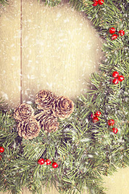 Christmas Garland Print by Amanda And Christopher Elwell