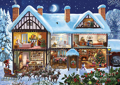 Christmas Cards Digital Art - Christmas House by Steve Crisp