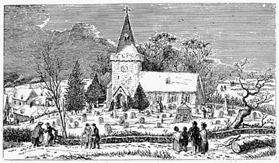 Christmas Morning, 1837 Print by Granger