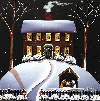 Christmas Nativity Original by Catherine Holman