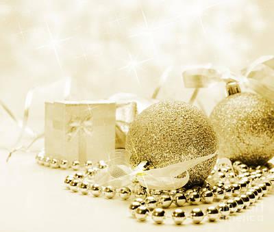 Christmas Ornaments Print by Jelena Jovanovic