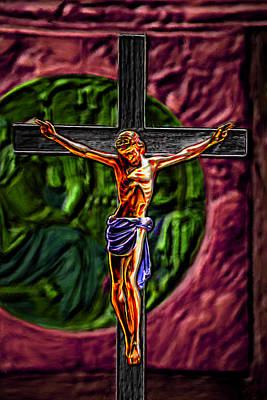 Lights Painting - Christs Crucifixion  by Bruce Nutting