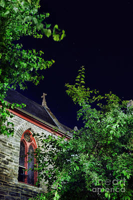 Rooftop Photograph - Church by HD Connelly