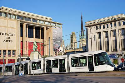 City Centre Tram Print by Andrew Wheeler