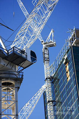 Crane Photograph - City Construction by Jorgo Photography - Wall Art Gallery
