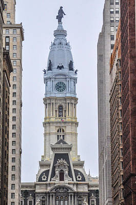 William Penn Digital Art - City Hall Tower - Philadelphia by Bill Cannon