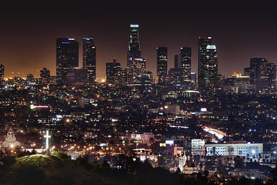 Los Angeles Skyline Photograph - City Of Angels by Natasha Bishop