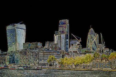 Tower Of London Digital Art - City Of London Art by David Pyatt