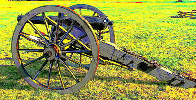 Civil War Canon By Earl's Photography Print by Earl  Eells a