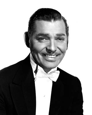 Clark Gable Print by Silver Screen
