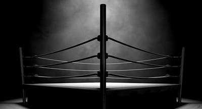 Isolated Digital Art - Classic Vintage Boxing Ring by Allan Swart