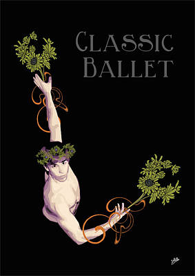 Modern Digital Art Drawing - Classical Ballet by Quim Abella