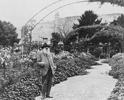 Of Painter Photograph - Claude Monet In His Garden At Giverny by French School