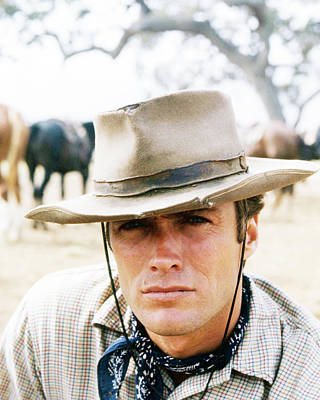 Clint Eastwood Photograph - Clint Eastwood In Rawhide  by Silver Screen