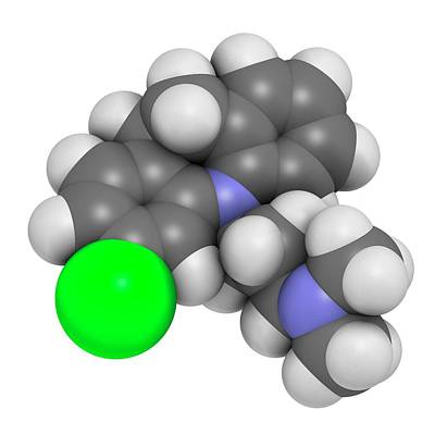 Clomipramine Tricyclic Antidepressant Print by Molekuul