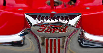 Close-up Of A Classic Car Of Ford Print by Panoramic Images