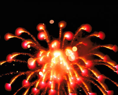 Close Up Of Ignited Fireworks Print by Panoramic Images