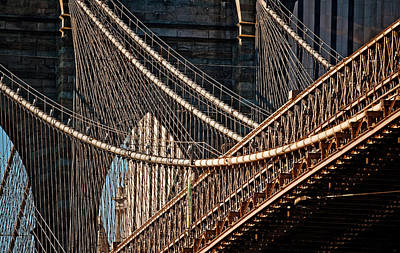 Close-up Of The Brooklyn Bridge, New Print by Panoramic Images
