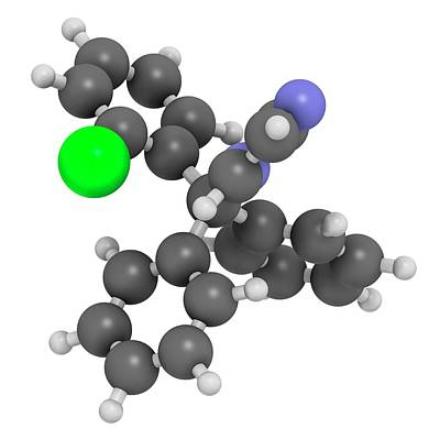 Chemical Photograph - Clotrimazole Antifungal Drug Molecule by Molekuul
