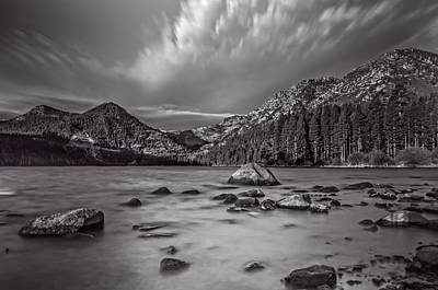 Cloud Movement Over Emerald Bay Print by Marc Crumpler