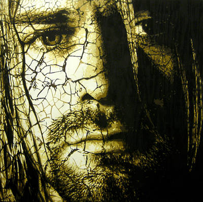 Pearl Jam Painting - Cobain - You Know You're Right  by Bobby Zeik