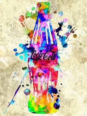 Coca-cola Sign Mixed Media - Coca-cola by Daniel Janda