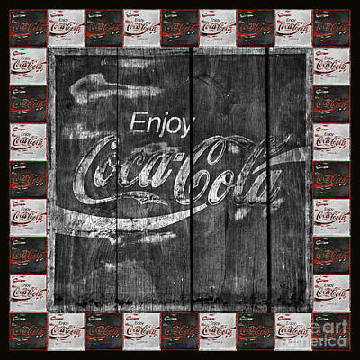 Coca-cola Sign Photograph - Coca Cola Sign With Little Cokes Border by John Stephens