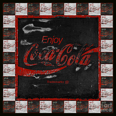Coca Cola Signs Print by John Stephens