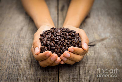 Pause Photograph - Coffee Beans by Aged Pixel