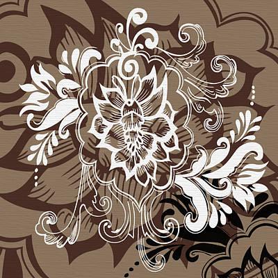 Coffee Flowers 10 Print by Angelina Vick