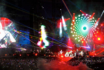 Coldplay Photograph - Coldplay - Sydney 2012 by Chris Cousins
