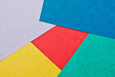 Colorful Card Print by Tom Gowanlock