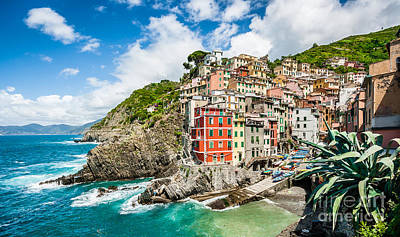 Town Photograph - Colorful Cinque Terre by JR Photography