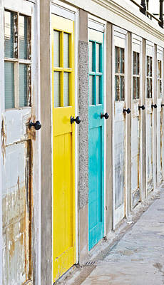 Colorful Doors Print by Tom Gowanlock