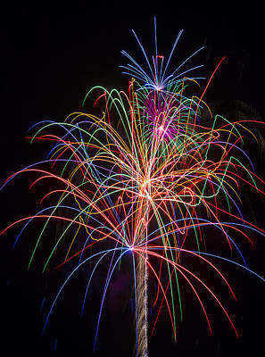 Freedom Party Photograph - Colorful Fireworks by Garry Gay