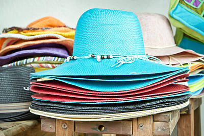 Colorful Hats Print by Tom Gowanlock