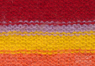 Textile Tapestry - Textile - Colorful Knitted Textile by Kerstin Ivarsson