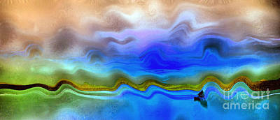 Water Filter Painting - Colorful Sunset by Odon Czintos