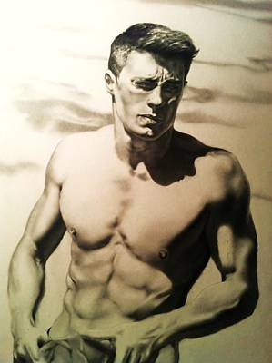 Drawing - Colton Haynes by Carl Baker