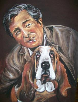 Peter Falk Pastel - Columbo And Dog by Martha Suhocke