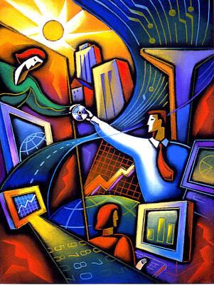 Chart Painting - Communication by Leon Zernitsky