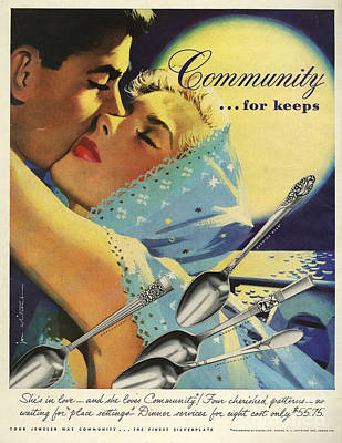 Nineteen-fifties Drawing - Community Cutlery  1952  1950s Usa by The Advertising Archives