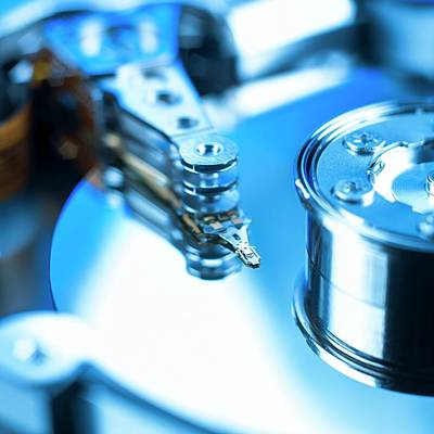 Computer Hard Drive Print by Science Photo Library