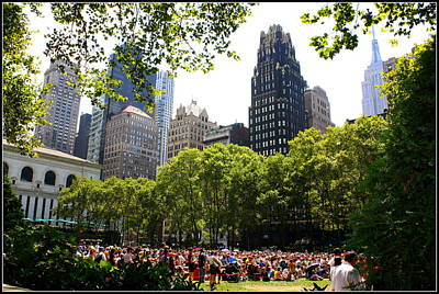 Concert At Bryant Park Original by Dora Sofia Caputo Photographic Art and Design