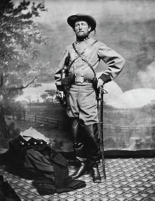 Black History Painting - Confederate Army Colonel John S. Mosby by Stocktrek Images