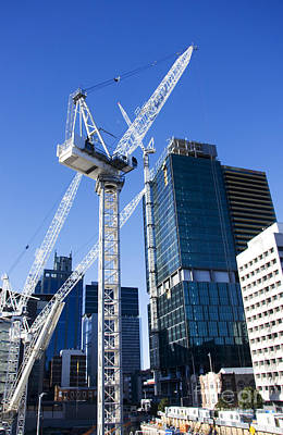 Erect Photograph - Construction City by Jorgo Photography - Wall Art Gallery