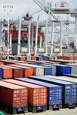 Container Port Print by Jim West
