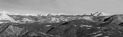 Winter Photograph - Continental Divide Rocky Mountain Snowy Peaks Panorama by James BO  Insogna