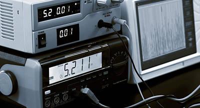 Control Panel In Lab Print by Wladimir Bulgar