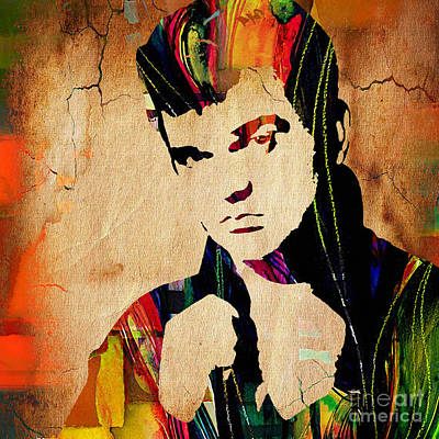 Conway Twitty Collection Print by Marvin Blaine